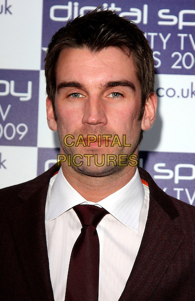 LEE McQUEEN.Digital Spy Reality TV Awards at the Bloomsbury Ballroom, London, England.  .April 6th, 2009.headshot portrait black .CAP/ROS.©Steve Ross/Capital Pictures.