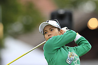 Ai Miyazato (JPN) playing her final tournament of her career  tees off the 6th tee during Wednesday's Pro-Am Day of The Evian Championship 2017, the final Major of the ladies season, held at Evian Resort Golf Club, Evian-les-Bains, France. 13th September 2017.<br /> Picture: Eoin Clarke | Golffile<br /> <br /> <br /> All photos usage must carry mandatory copyright credit (&copy; Golffile | Eoin Clarke)