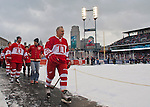 31 December 2013: Former Detroit Red Wings forward Mickey Redmond (20) walks toward the dressing rooms after warmups before the Toronto Maple Leafs v Detroit Red Wings Alumni Showdown hockey game, at Comerica Park, in Detroit, MI.