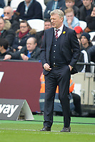 West Ham Manager David Moyes during West Ham United vs Burnley, Premier League Football at The London Stadium on 10th March 2018