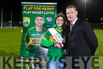 Rose of Tralee Maggie McEldowney Chairman of Kerry County Board Tim Murphy in the National League in Austin Stack park on Saturday night.