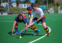 Action from the National Senior WMen's Hockey Tournament match between Waikato and Tasman at National Hockey Stadium in Wellington, New Zealand on Tuesday, 18 September 2018. Photo: Dave Lintott / lintottphoto.co.nz