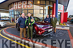 Kerry Hurling Captain All Star Representative and Kellihers Toyota Ambassador, launches the 2016 face lifted Toyota Rav4 with Managing Director Tim Kelliher and Sales Team l-r, Jerry O'Sullivan, Tom O'Connor, Kieran Evans
