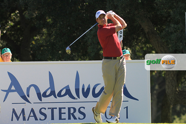 David Howell (ENG) during the 2nd day at the  Andalucía Masters at Club de Golf Valderrama, Sotogrande, Spain. .Picture Fran Caffrey www.golffile.ie