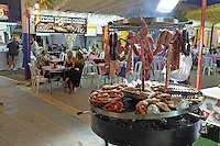 Food, glorious food! Pop-up restaurants with food in bewildering variety at fiesta in San Pedro de Alcantara, Marbella, Spain. 15th October 2015, 201510151752<br />