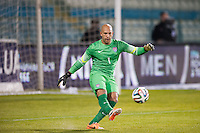 Larnaca, Cyprus - Wednesday, March 5 2014:  USMNT competes against Ukraine National Team at Antonis Papadopoulous Stadium.