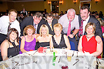 Meeting up at the Nano Nagle social in the Listowel Arms Hotel on Friday night were front l-r Karen and Gabrielle Browne, Michelle Halpin, Julie Gleeson, Christine McElligott.  Back l-r Christy Halpin, John O' Sullivan, Jimmy O' Connor, Sean Gleeson and Paddy McElligott..   Copyright Kerry's Eye 2008