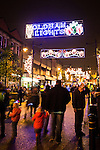 © Joel Goodman - 07973 332324 . 17 November 2013 . Oldham , UK . The lights on Yorkshire Street . The Christmas lights are turned on in Oldham Town Centre . Photo credit : Joel Goodman