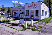 Frank's Echo Service Station in Echo, Utah. The city of Echo was once a junction point on the Lincoln Highway for travelers heading west to Salt Lake City or Ogden, Utah.