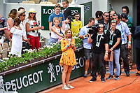 French television jounalist Clementine Sarlat during Day 2 of the French Open 2018 on May 28, 2018 in Paris, France. (Photo by Dave Winter/Icon Sport)