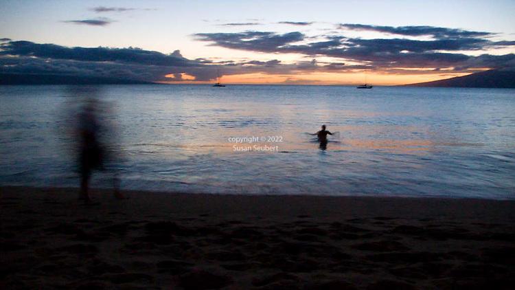 Sunset as viewed from North Kaanapali Beach, Maui, HI