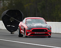 Mar 16, 2019; Gainesville, FL, USA; NHRA factory stock driver Drew Skillman during qualifying for the Gatornationals at Gainesville Raceway. Mandatory Credit: Mark J. Rebilas-USA TODAY Sports