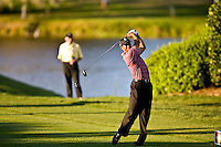March 29, 2009, Arnold Palmer Invitation.  Tiger Woods tees off on the 16th tee  during final round play  at Bay Hill Golf Club in Orlando, Florida...