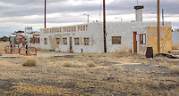 The Twin Arrows Trading Post on Route 66 in Arizona.  The Trading Post was built sometime in the 1950's or 60's and closed in the late 1990's.  The Hopi Indians now own the land and are working to restore Twin Arrows.