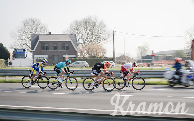 the breakaway group<br /> <br /> 103rd Ronde van Vlaanderen 2019<br /> One day race from Antwerp to Oudenaarde (BEL/270km)<br /> <br /> ©kramon