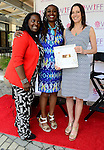 "COCONUT GROVE, FL - MARCH 30: Marchet McWhite, Yvonne Mccormack Lyons and Cecilia Peck attend the Women's International Film Festival 2014 - Brunch and the screening of ""Brave Miss World"" also received the awards for the best films of the festival on March 30, 2014 in Coconut Grove, Florida. (Photo by Johnny Louis/jlnphotography.com)"
