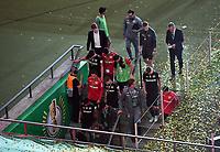 v. l. Leverkusens Spieler verlassen das Stadion<br /> Fussball, Herren, Saison 2019/2020, 77. Finale um den DFB-Pokal in Berlin, Bayer 04 Leverkusen - FC Bayern München, 04.07. 2020, Foto: Matthias Koch/POOL/Marc Schueler/Sportpics.de