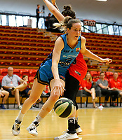 29th December 2019; Bendat Basketball Centre, Perth, Western Australia, Australia; Womens National Basketball League Australia, Perth Lynx versus Canberra Capitals; Keely Froling of the Canberra Capitals drives towards the basket around the defence of Marina Whittle of the Perth Lynx - Editorial Use