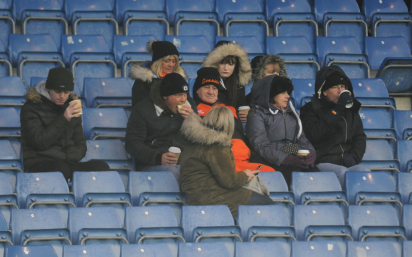 Blackpool fans enjoy the pre-match atmosphere <br /> <br /> Photographer Kevin Barnes/CameraSport<br /> <br /> The EFL Sky Bet League One - Oxford United v Blackpool - Saturday 15th December 2018 - Kassam Stadium - Oxford<br /> <br /> World Copyright © 2018 CameraSport. All rights reserved. 43 Linden Ave. Countesthorpe. Leicester. England. LE8 5PG - Tel: +44 (0) 116 277 4147 - admin@camerasport.com - www.camerasport.com