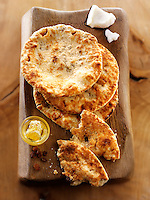 Peshwari Naan. coconut sultanas and honey Bread - Indian food stock pictures, photos fotos & images