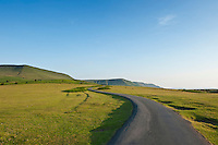 single lane road to Hay Bluff, Brecon Beacons national park, Wales