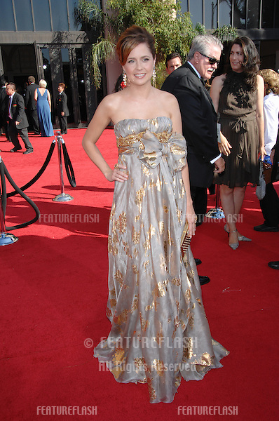 Jenna Fischer at the 59th Primetime Emmy Awards at the Shrine Auditorium..September 16, 2007 Los Angeles, CA.Picture: Paul Smith / Featureflash