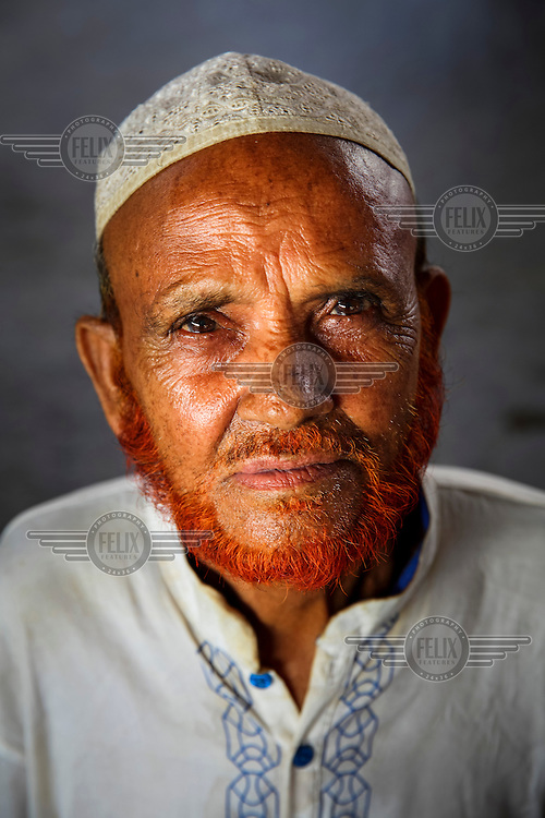 Abdul Malek.<br /> <br /> It is very common in Bangladesh to see older people with dyed orange hair, men with orange beards or orange moustaches and women with orange hair. The dye used is from the flowering Henna plant. The practice comes from the widely held belief that the Prophet Muhammad dyed his beard and hair. It is also common among people returning from Hajj. Some Muslims believe that henna is the only dye they are free to use for colouring their hair.