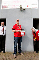 A member of the Orient Fans Trust collects donations prior to the Sky Bet League 2 match between Leyton Orient and Grimsby Town at the Matchroom Stadium, London, England on 11 March 2017. Photo by Carlton Myrie / PRiME Media Images.