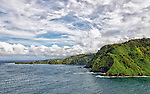 A view of Honomanu Bay, from the Hana Highway, Maui, Hawaii