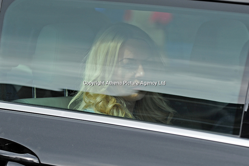 Pictured: Tatum Price Mother of Carson leaving the funeral at Gelligaer Church, in Gelligaer, Wales, UK Tuesday 07 May 2019<br /> Re: Funeral of 13 year old Carson Price at Gelligaer Church, in Gelligaer, Wales, UK.<br /> Schoolboy Carson Price was found at a park in Ystrad Mynach, south Wales at the start of the Easter school holidays.<br /> It is believed he had taken MDMA Donkey Kong tablets.
