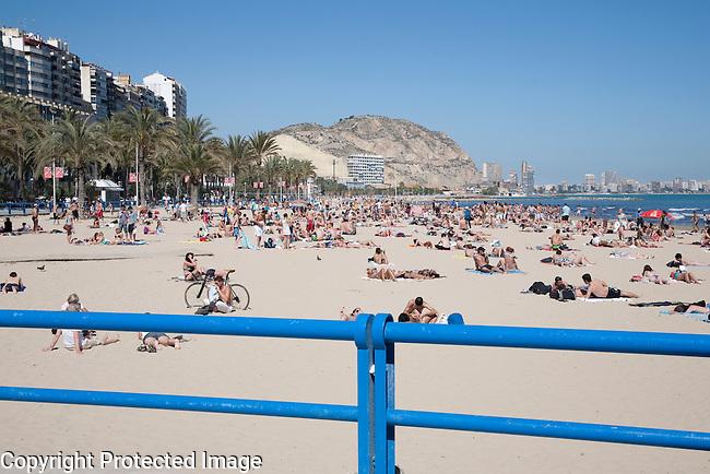 Postiguet Beach, Alicante in Spain, Europe