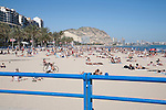 Postiguet Beach, Alicante in Spain, Europe