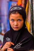 This image of a young muslim girl, Main Bazaar Road, old Leh, Ladakh, Jammu and Kashmir State, India won the Gold People award in the 2015 Society of American Travel Writers' Bill Muster photo competition.