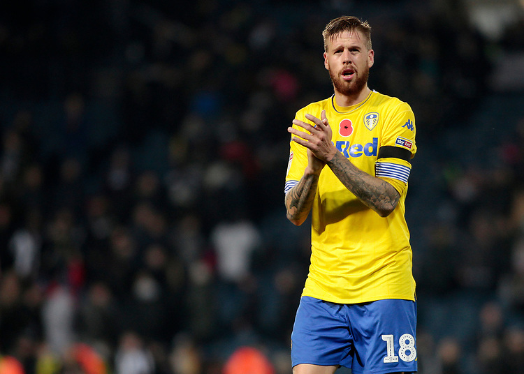 Leeds United's Pontus Jansson applauds the fans at the final whistle <br /> <br /> Photographer David Shipman/CameraSport<br /> <br /> The EFL Sky Bet Championship - West Bromwich Albion v Leeds United - Saturday 10th November 2018 - The Hawthorns - West Bromwich<br /> <br /> World Copyright © 2018 CameraSport. All rights reserved. 43 Linden Ave. Countesthorpe. Leicester. England. LE8 5PG - Tel: +44 (0) 116 277 4147 - admin@camerasport.com - www.camerasport.com