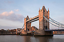 London, UK. 07.04.2015. Tower Bridge at Sunset, London, UK. Photograph © Jane Hobson.