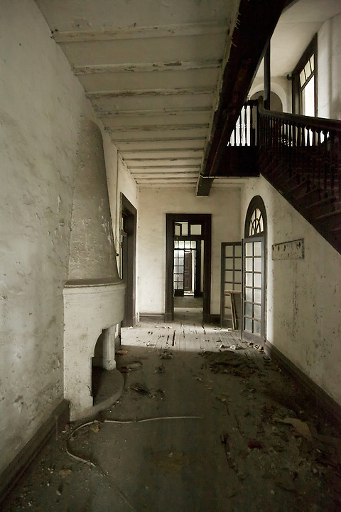 Main Downstairs Hall With Stairway Partially Visible, Chongqing (Chungking) Residence.