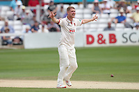 Jamie Porter of Essex appeals for the wicket of Azhar Ali during Essex CCC vs Somerset CCC, Specsavers County Championship Division 1 Cricket at The Cloudfm County Ground on 25th June 2019