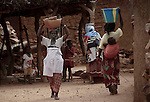 World Water Day. Women in an alley of Shongo, Dogon Country, Mali.