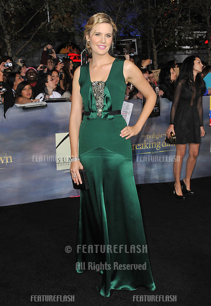 "Maggie Grace at the world premiere of her movie ""The Twilight Saga: Breaking Dawn - Part 2"" at the Nokia Theatre LA Live..November 12, 2012  Los Angeles, CA.Picture: Paul Smith / Featureflash"