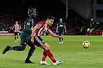 George Baldock of Sheffield United crosses the ball during the Premier League match at Bramall Lane, Sheffield. Picture date: 5th December 2019. Picture credit should read: James Wilson/Sportimage