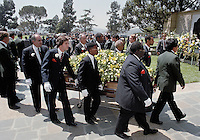 May 19, 1990 - Glendale, California - USA - Pallbearers Carry the coffin of entertainer Sammy Davis Jr. in Glendale, California in May of 1999.