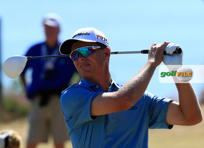 John SENDEN (AUS) tees off the 18th tee during Sunday's Final Round of the 2015 U.S. Open 115th National Championship held at Chambers Bay, Seattle, Washington, USA. 6/22/2015.<br /> Picture: Golffile | Eoin Clarke<br /> <br /> <br /> <br /> <br /> All photo usage must carry mandatory copyright credit (&copy; Golffile | Eoin Clarke)