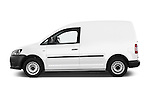 Car Driver side profile view of a 2014 Volkswagen CADDY 1.6 TDI 4 Door Car Van Side View
