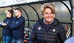 BLOEMENDAAL  - Hockey -  finale KNHB Gold Cup dames, Bloemendaal-HDM . Bloemendaal wint na shoot outs. Edith Karsten (Bldaal). COPYRIGHT KOEN SUYK