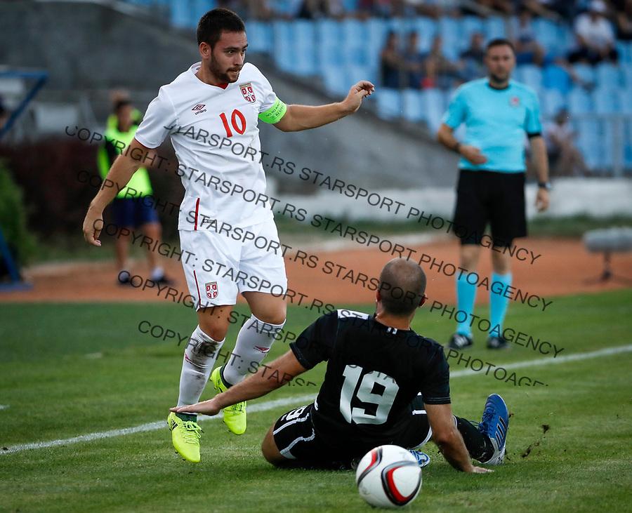 Fudbal Soccer<br /> Reprezentacija Srbije U21<br /> Kvalifikacije za U21 EURO 2019<br /> Srbija U21 v Gibraltar U21<br /> Andrija Zivkovic (L)<br /> Jagodina, 09.01.2017.<br /> foto: Srdjan Stevanovic/Starsportphoto &copy;