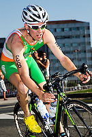 25 JUN 2011 - PONTEVEDRA, ESP - Bryan Keane (IRL) - Elite Men's European Triathlon Championships in Pontevedra, Spain .(PHOTO (C) NIGEL FARROW)
