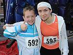 Ilze Zarina and Emils Zarins who took part in the Saint Vincent de Paul sponsored 5Km run. Photo: Colin Bell/pressphotos.ie