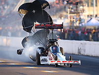 Sep 22, 2018; Madison, IL, USA; NHRA top fuel driver Steve Torrence during qualifying for the Midwest Nationals at Gateway Motorsports Park. Mandatory Credit: Mark J. Rebilas-USA TODAY Sports