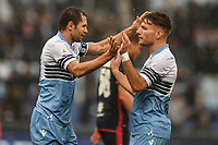 Celebration after  goal of Senad Lulic Lazio, with Ciro Immobile. Goal celebration.<br /> Roma 22-12-2018 Stadio Olimpico<br /> Football Calcio Campionato Serie A<br /> 2018/2019 <br /> Lazio - Cagliari<br /> Foto Antonietta Baldassarre / Insidefoto