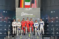 #51 AF CORSE (ITA) FERRARI 488 GTE EVO GTE PRO ALESSANDRO PIER GUIDI (ITA) JAMES CALADO (GBR) WINNER LMGTE PRO<br /> <br /> #91 PORSCHE GT TEAM (DEU) PORSCHE 911 RSR GTE PRO RICHARD LIETZ (AUT) GIANMARIA BRUNI (ITA) SECOND LMGTE PRO<br /> <br /> #67 FORD CHIP GANASSI TEAM UK (USA) FORD GT GTE PRO ANDY PRIAULX (GBR) HARRY TINCKNELL (GBR) THIRD LMGTE PRO